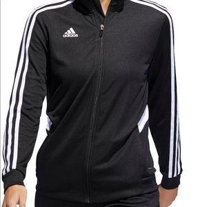 black adidas full zip jacket